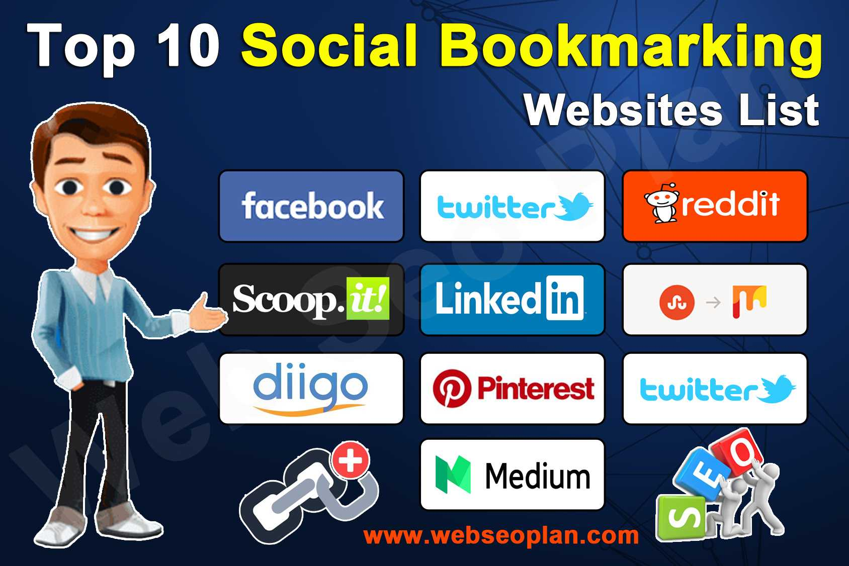 Top 10 Most Popular Social Bookmarking Websites - Web Seo Plan