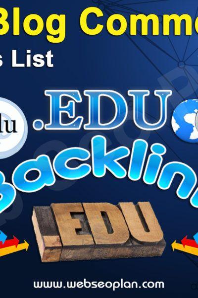 Edu Blog Commenting Sites List