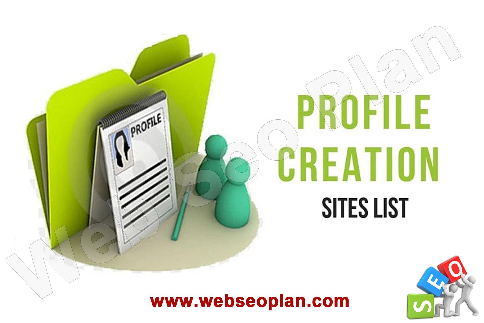 Profile Creation Sites List