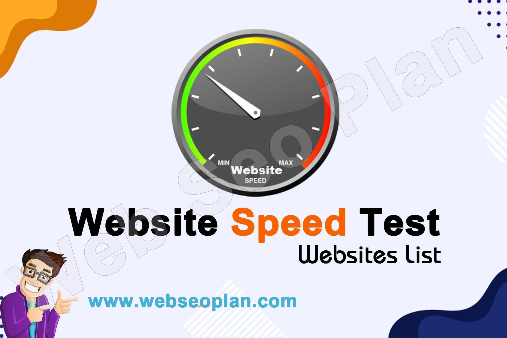Website Speed Test Website List